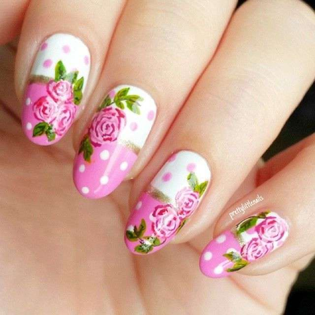 10 vintage floral nail arts for your nails vintage floral nail arts prinsesfo Image collections