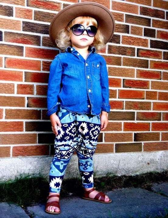 Baby tribal print pants