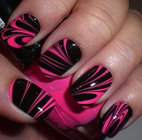 marble nail arts