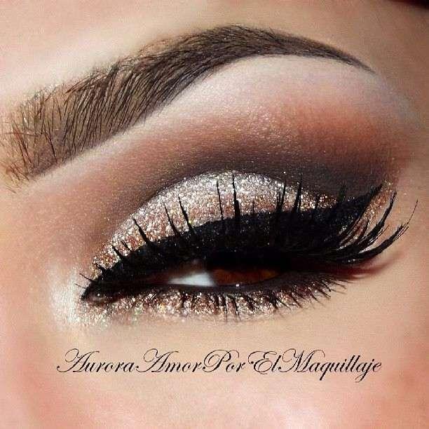 Профессиональный макияж для карих глаз с