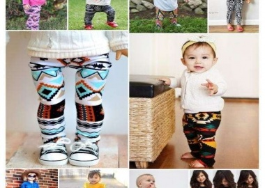 Baby tribal print pants
