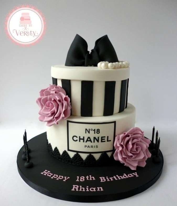Gorgeous Chanel Cakes For An Amazing Birthday - Stylish birthday cakes