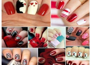 Valentine's Day nail arts