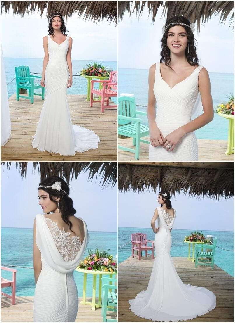 Stunning Cowl Back Wedding Dresses for Brides-to-be