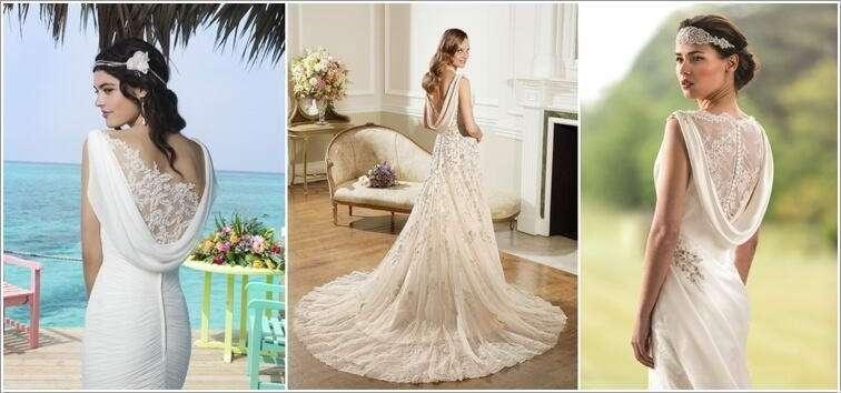 Stunning cowl back wedding dresses for brides to be for Cowl back wedding dress