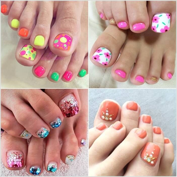 31 stylish toe nail art designs to try this summer prinsesfo Choice Image