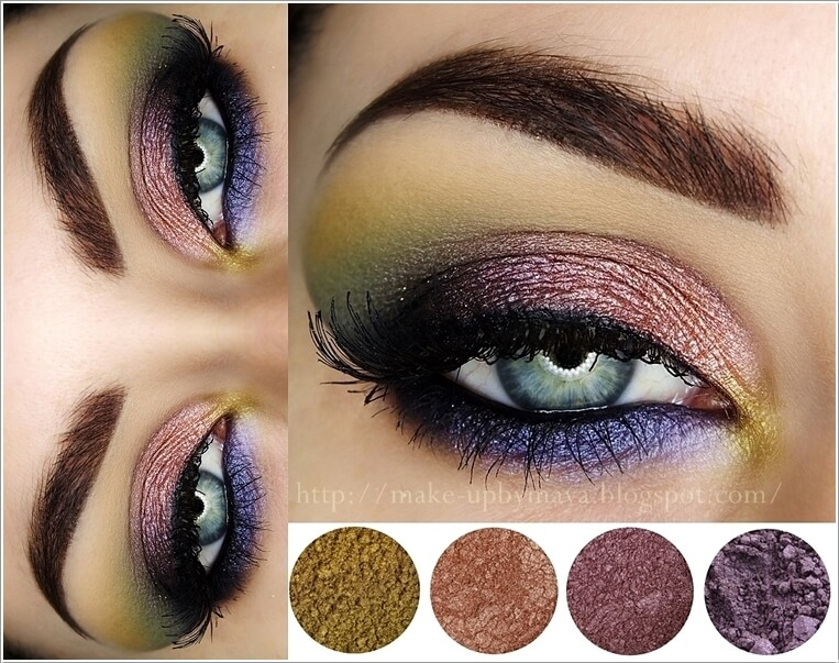 Natural looking makeup for green eyes