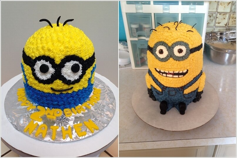 How To Make A Minion Cake Without Fondant