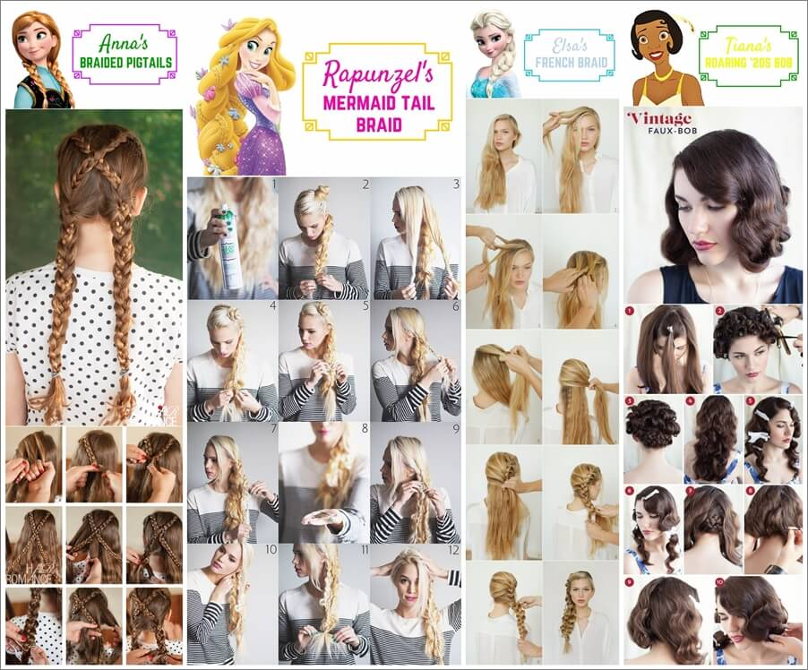 10 Beauteous Disney Princesses Inspired Hairstyles