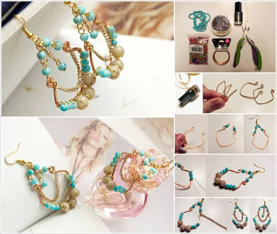 Make These Turquoise Chandelier Earrings in Just 4 Steps