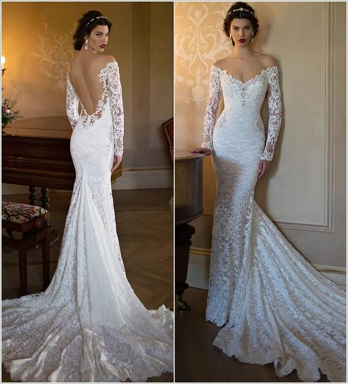 Lace and Mesh Wedding Dress