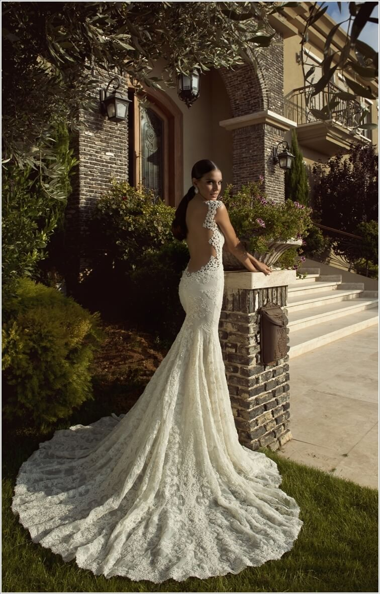 10 low back wedding dresses that can be a brides dream 4 junglespirit Image collections