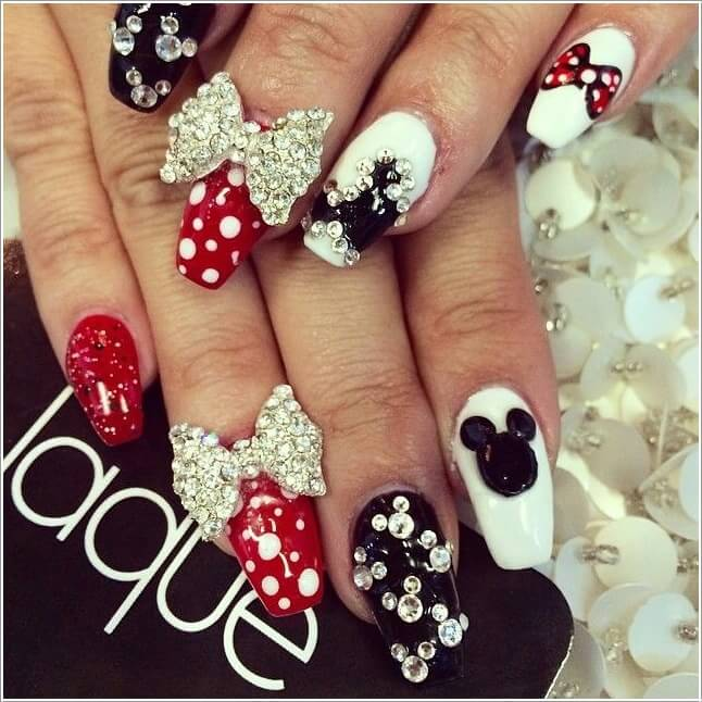 5 cool ways to design mickey mouse nails 4 prinsesfo Image collections