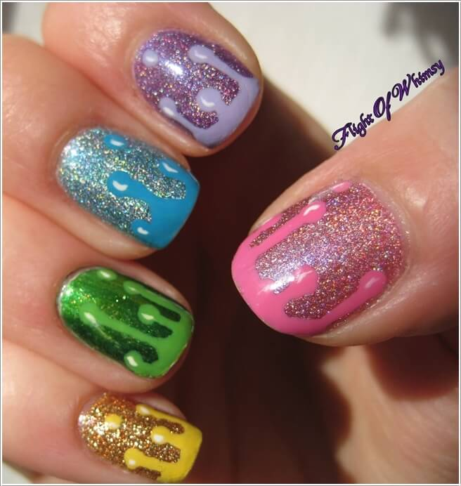 10 Cool Ways To Design Nails With Glitter Nail Paint