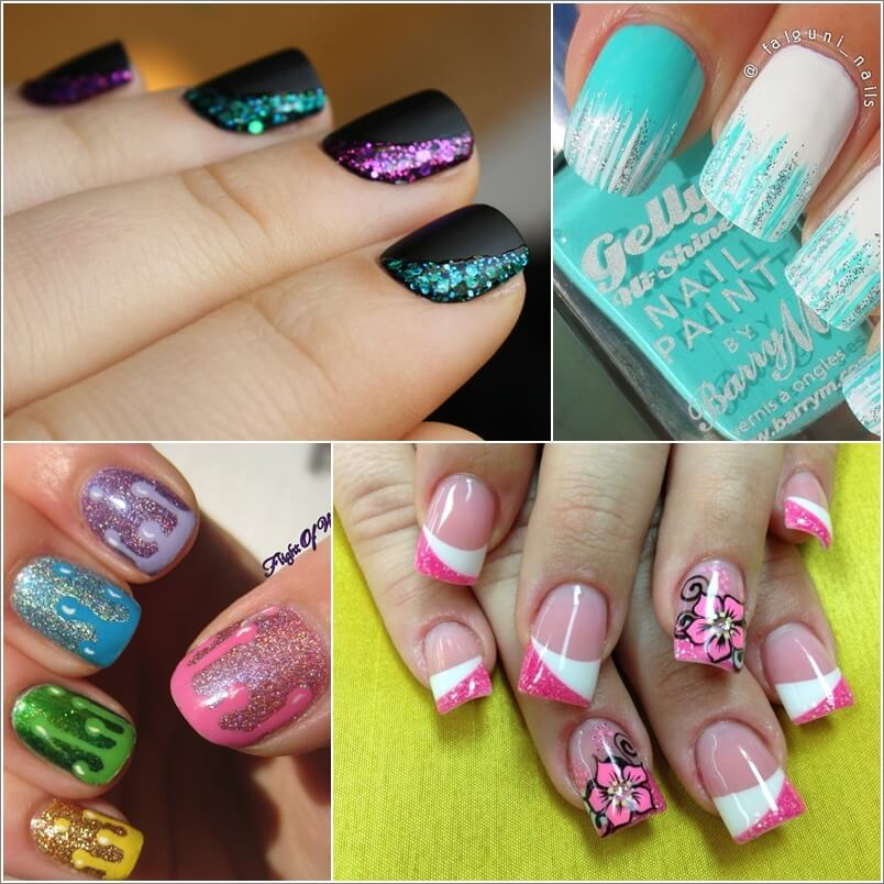 - 10 Cool Ways To Design Nails With Glitter Nail Paint