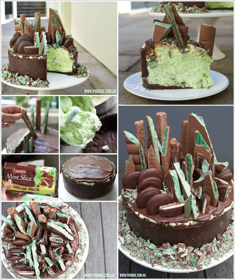This Emerald City Mint Chocolate Cheesecake is So Yummy 1
