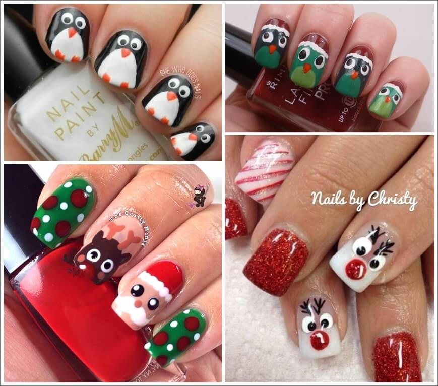 Loads of Cool Christmas Nail Art Ideas 1