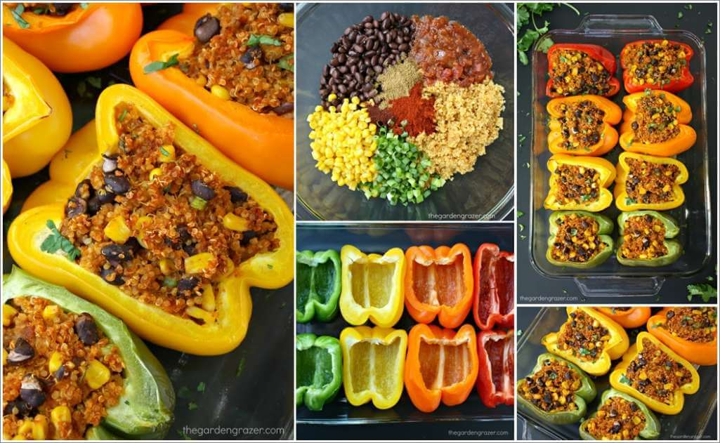 Try These Yummy Mexican Quinoa Stuffed Peppers 1