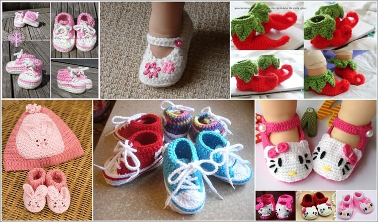 Over 40 Crochet Baby Booties Patterns That Are Free 1