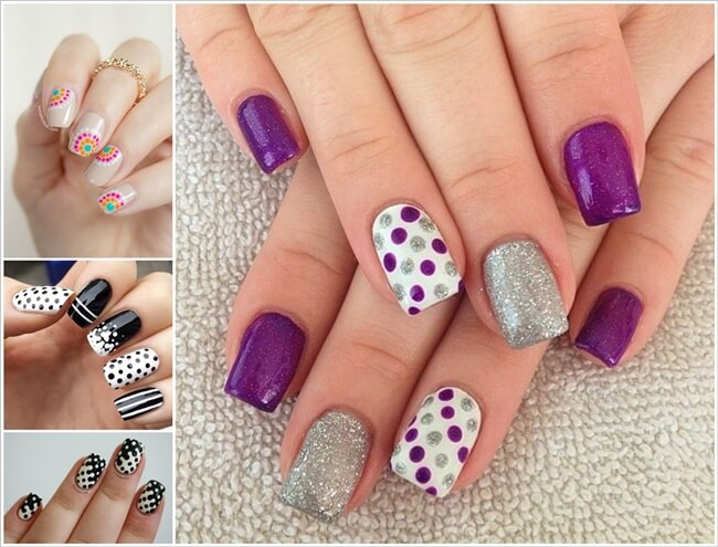 30 Spectacular Polka Dot Nail Art Ideas 1