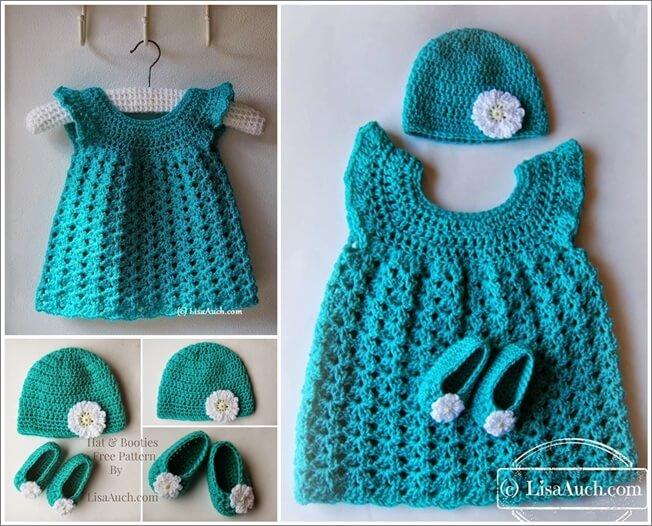 16 Free Crochet Patterns for Baby Gift Sets 1