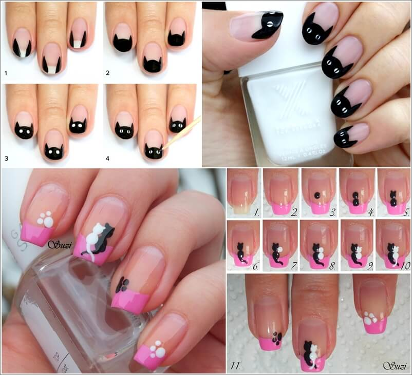 Cute and Cool Cat Nail Art Ideas 1