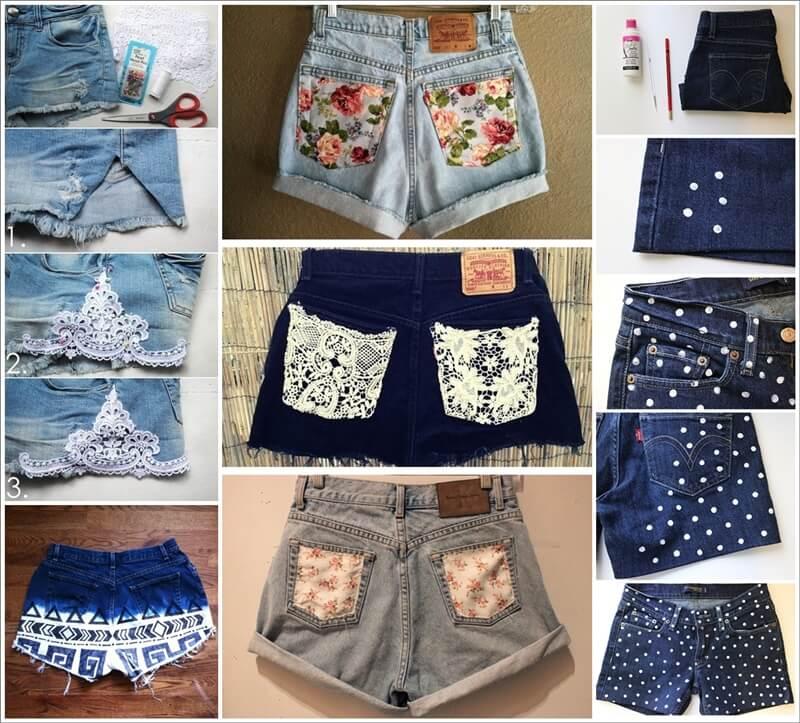 18 Cool Ways to Refashion Your Denim Shorts