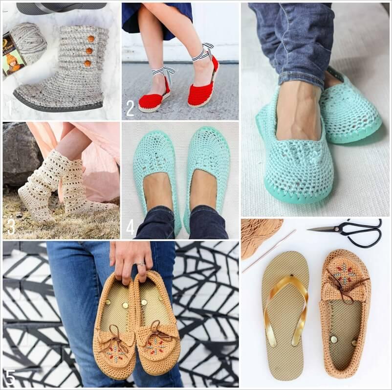Make Cute Crochet Shoes With Flip Flop Soles
